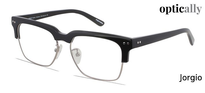 c26524cd716 Semi-rimmed glasses with sleek silver detailing on the edges and arms of  the frame. Perfect for everyday use for a stylish look!