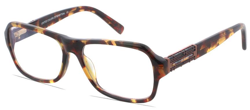 benetton be445 i2 rimmed frames prescription glasses